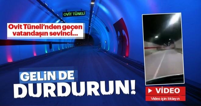 Ovit Tüneli'nden geçen Erzurumlu bir vatandaşın sevinci!