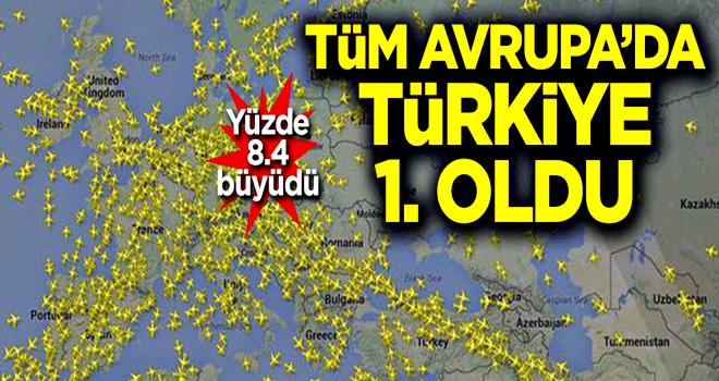Türkiye Avrupa hava trafiğine en fazla katkı sağlayan ülke oldu