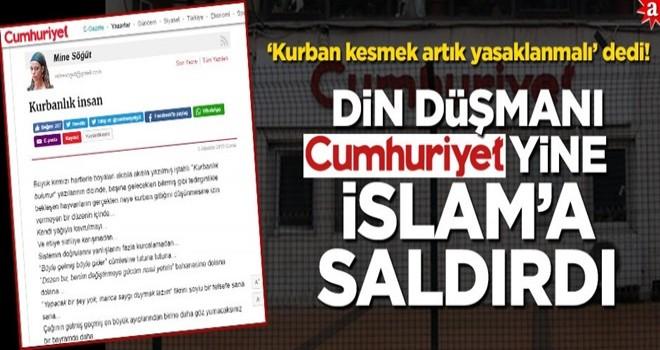 'Kurban kesmek artık yasaklanmalı' dedi! Din düşmanı Cumhuriyet yine İslam'a saldırdı
