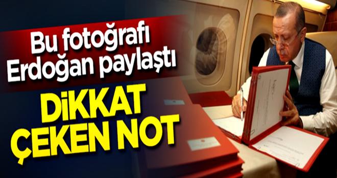Bu fotoğrafı Cumhurbaşkanı Erdoğan paylaştı... Dikkat çeken not