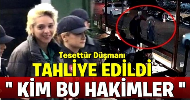 Başörtülü öğretmene saldıran Berrak Karaoğlu'nun tahliyesine karar verildi