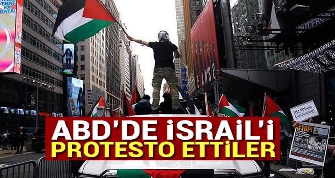 İsrail'in Gazze katliamı New York'ta protesto edildi