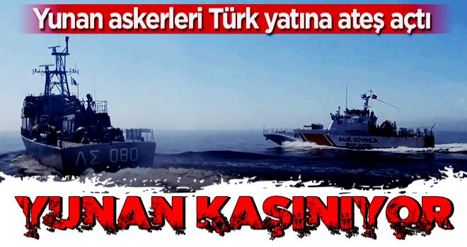 Resmen kaşınıyorlar! Yunan askerleri Türk yatına ateş açtı