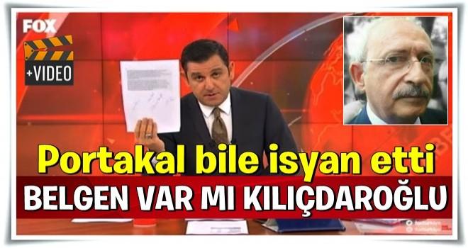 Fatih Portakal: Belgelerle konuş Kılıçdaroğlu