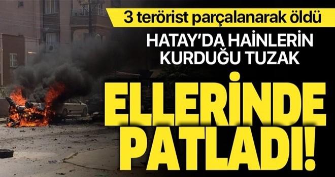 Hatay Reyhanlı'da bombalı araç patladı: 3 terörist öldü .