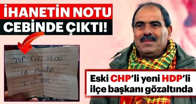 İhanetin notu eski CHP'li başkanın cebinden çıktı