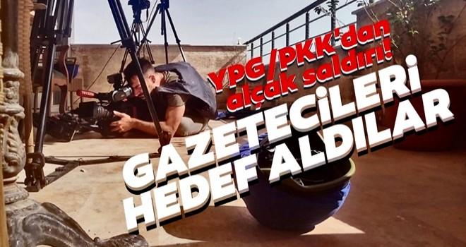 YPG/PKK'lı teröristlerden hain saldırı! Gazetecileri canlı yayında hedef aldılar
