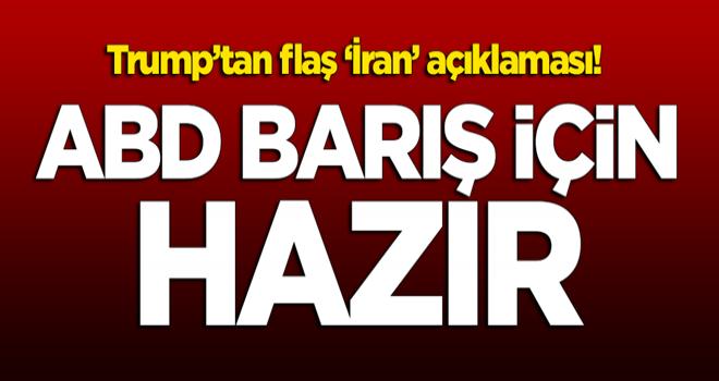 İran'ın saldırısının ardından Trump'tan flaş açıklama!