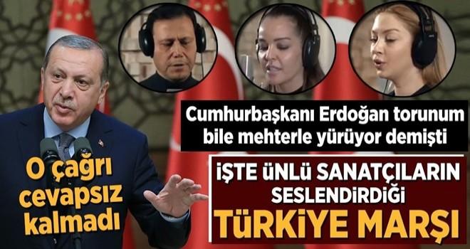 Ünlü sanatçılardan Türkiye Marşı