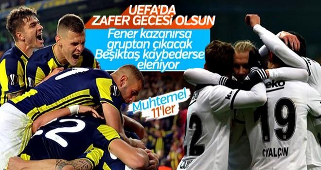 Fenerbahçe ve Beşiktaş'ın muhtemel 11'leri