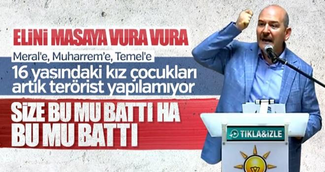 Bakan Soylu'dan muhalefete sert 'Demirtaş' tepkisi