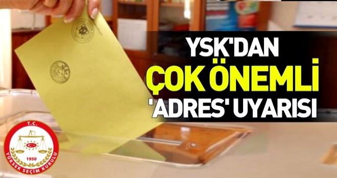 YSK'dan seçmen taşındığı iddialarına ilişkin açıklama.