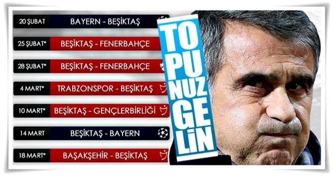 Beşiktaş'ın önünde zorlu bir fikstür var