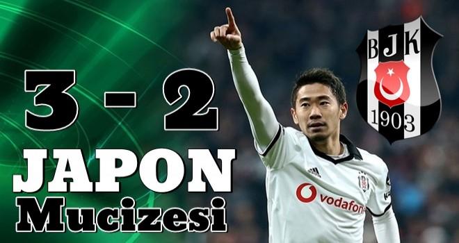 Beşiktaş Kagawa ile son dakikada güldü .