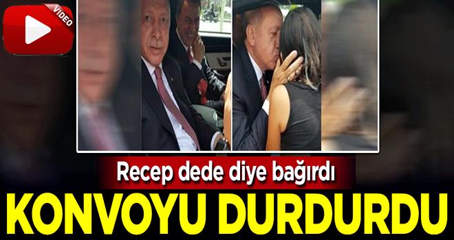 Başkan Erdoğan çocuklara kayıtsız kalamadı, konvoyu durdurdu