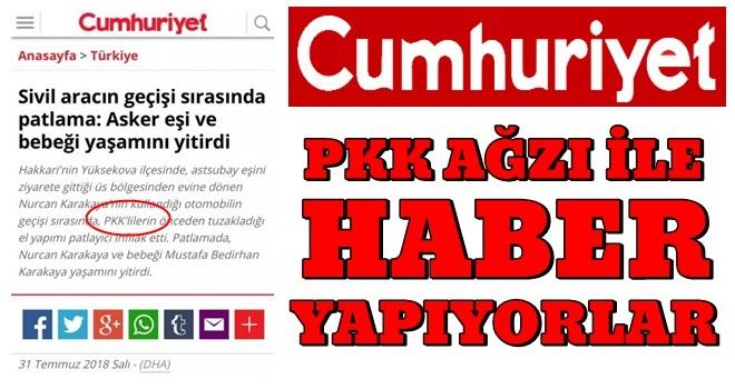 Cumhuriyet'in PKK hassasiyeti !