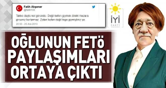 Meral Akşener'in oğlunun FETÖ paylaşımları ortaya çıktı! .