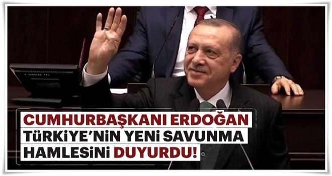 Cumhurbaşkanı Erdoğan Türkiye'nin yeni savunma hamlesini duyurdu!