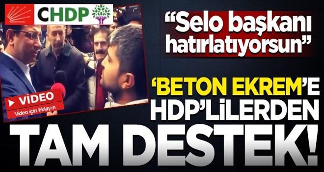Ekrem İmamoğlu'na HDP'lilerden tam destek!