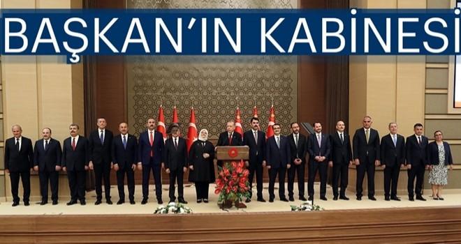Başkan Erdoğan açıkladı: İşte yeni sistemin ilk kabinesi