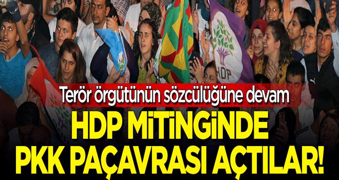 HDP mitinginde yine PKK propagandası yaptılar!