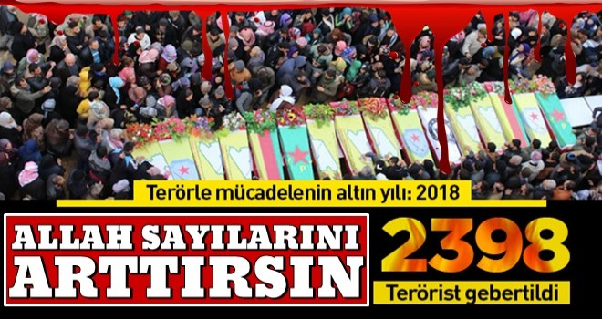 147 operasyonla 2 bin 398 terörist etkisiz kılındı