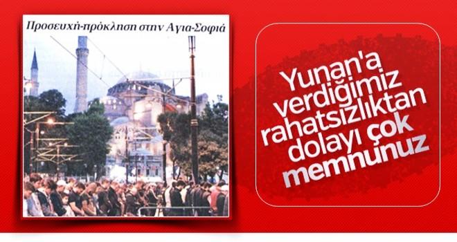 Ayasofya'da namaz kılınması Yunan basınında