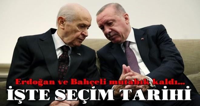 Erdoğan ve Bahçeli mutabık kaldı... İşte seçim tarihi