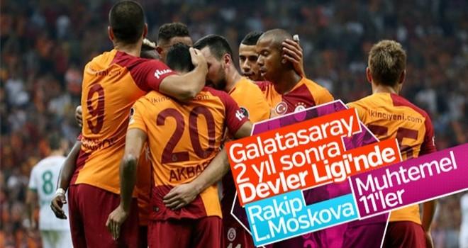 Galatasaray-L.Moskova maçı muhtemel 11'leri