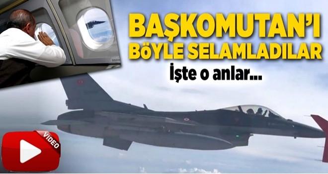 Pilotlar Adana semalarında Cumhurbaşkanı'na selam verdi .
