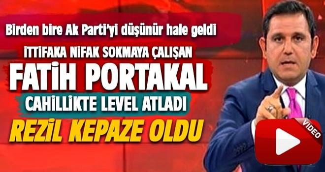 Fatih Portakal cahillikte level atladı