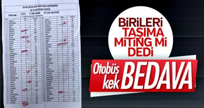 İnce'nin İstanbul Mitingi'ne otobüslerle insan taşındı