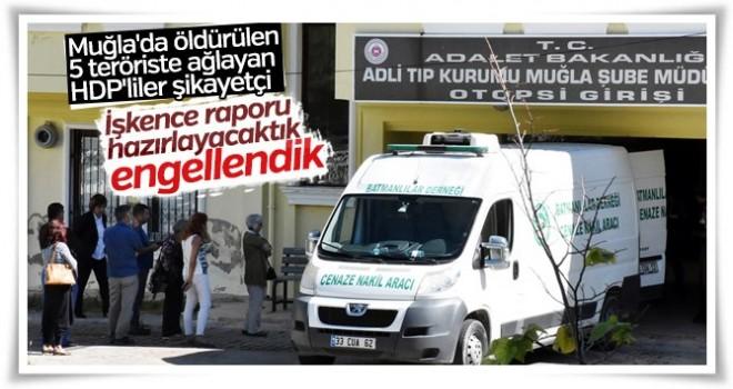 Muğla'da PKK'lı cenazesi alan HDP'liler rahatsız olmuşlar !