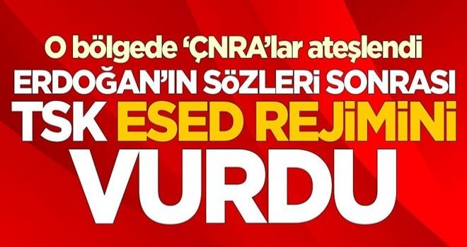 Başkomutan Erdoğan'ın sözleri sonrası TSK, Esed rejimini vurdu