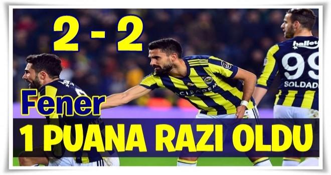 Fenerbahçe, Gençlerbirliği karşısında 1 puana razı oldu