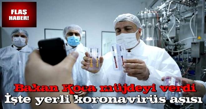 Bakan Koca müjdeyi verdi! İşte yerli koronavirüs aşısı