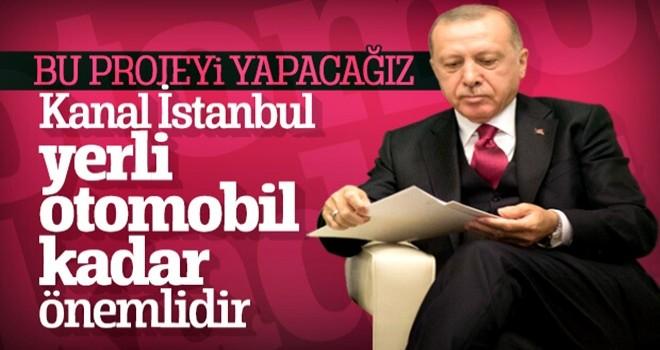 Cumhurbaşkanı Erdoğan'dan Kanal İstanbul talimatı
