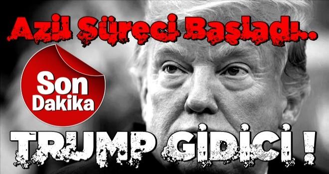 ABD Başkanı Trump'a soğuk duş! Azil süreci başladı