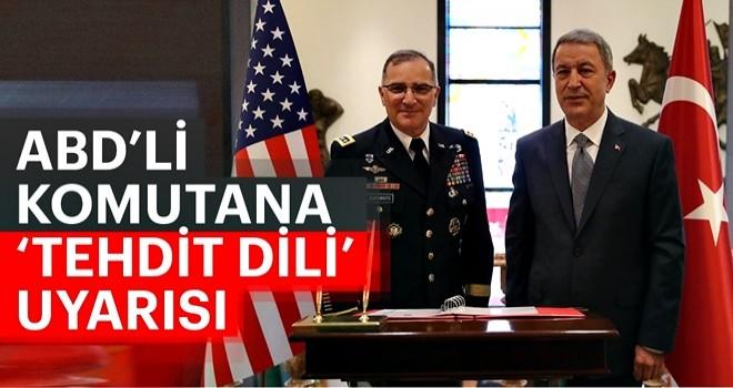 ABD'li komutana 'tehdit dili' uyarısı