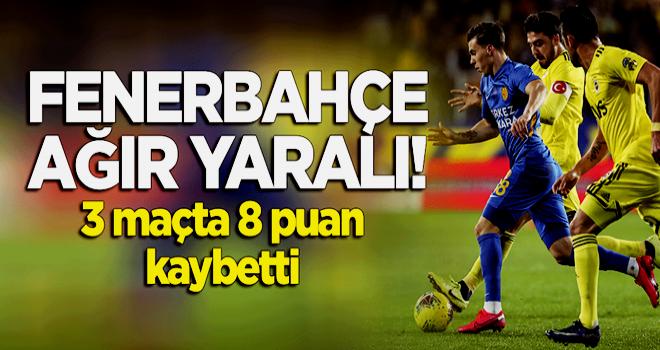 3 maçta 8 puan kaybetti! Fenerbahçe ağır yaralı