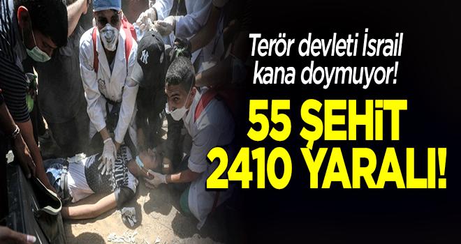 Gazze Şeridi'nde şehit sayısı 55'e yükseldi!