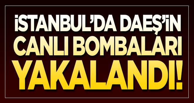 İstanbul'da terör örgütü DAEŞ'in canlı bombaları yakalandı