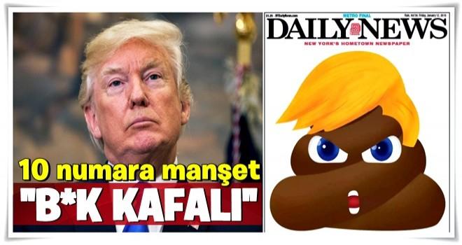 Tarihe geçecek manşet! Amerikan gazetesi, ABD Başkanı'nı böyle çizdi...