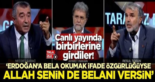 'Erdoğan'a bela okumak ifade özgürlüğüyse Allah senin de belanı versin'