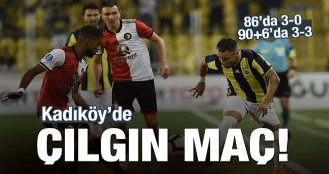 Kadıköy'de çılgın maç! 3-0'dan 3-3
