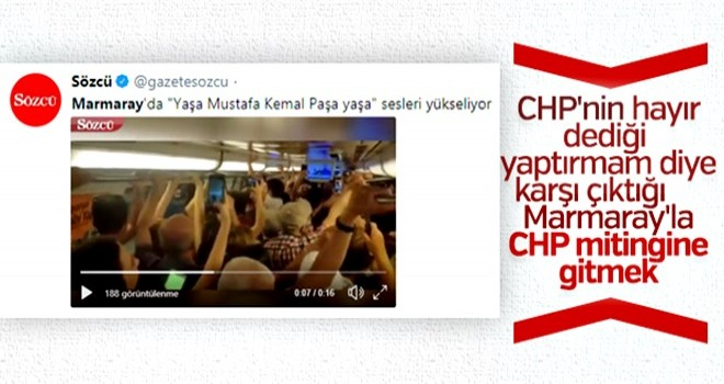 Ve CHP'liler Marmaray'a biner
