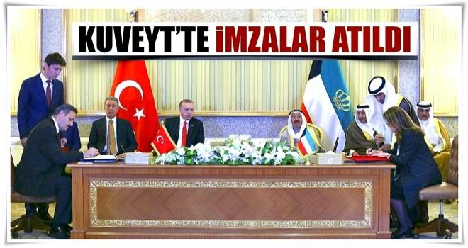 Kuveyt'te imzalar atıldı