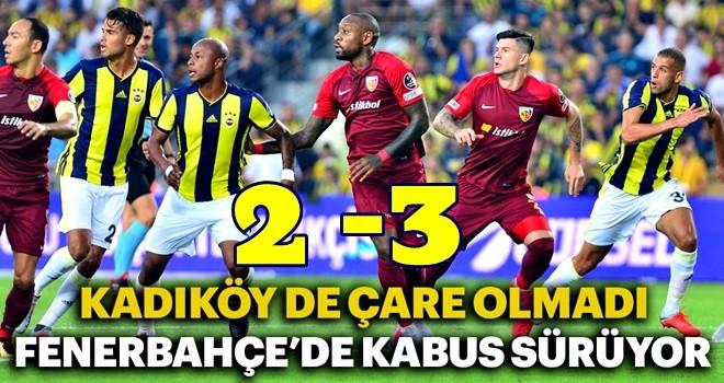 Fenerbahçe bu kez de Kayserispor'a diş geçiremedi