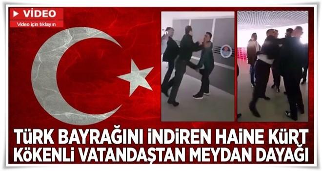Türk bayrağını indiren adamı ve emri vereni böyle tokatladı