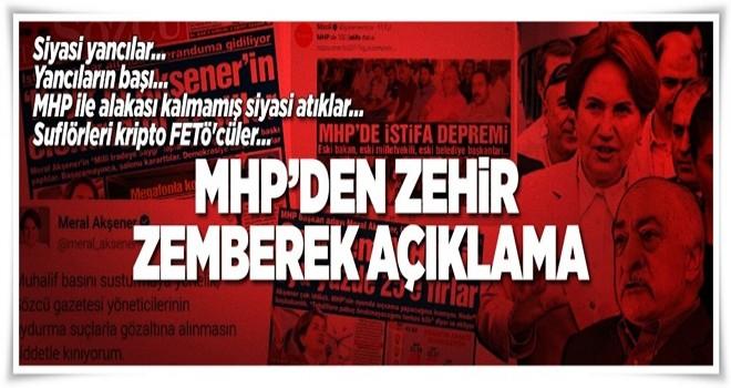 MHP'den zehir zemberek açıklama  .